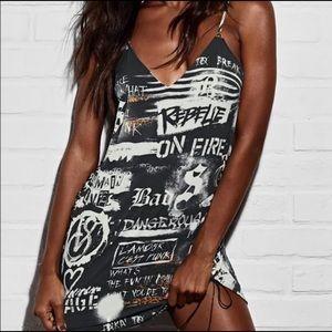 Victoria's Secret Balmain Graffiti Dress Slip